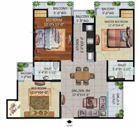 1309 sqft, 3 bhk Apartment in Devika Gold Homz Sector 1 Noida Extension, Greater Noida at Rs. 43.1970 Lacs