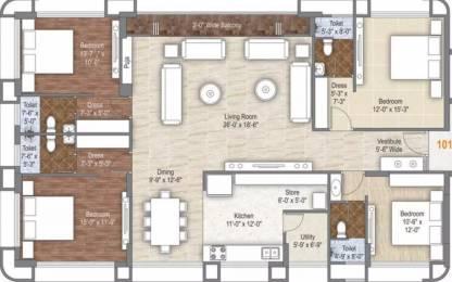 3281 sqft, 4 bhk Apartment in Rameshwaram Dev Bhoomi Bhimrad, Surat at Rs. 1.7389 Cr