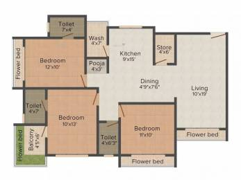 1715 sqft, 3 bhk Apartment in Happy Home Nest View Althan, Surat at Rs. 61.7400 Lacs
