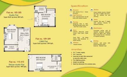 599 sqft, 1 bhk Apartment in Builder Versa Hermitage Narendra Pokhari Road, Puri at Rs. 14.0000 Lacs