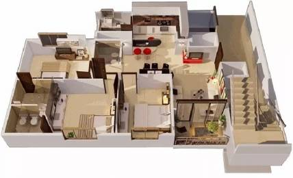1488 sqft, 3 bhk Apartment in Galaxy Orchid Woods Hennur Road, Bangalore at Rs. 26000