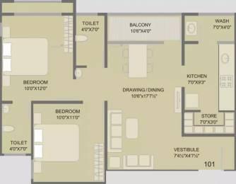 1080 sqft, 2 bhk Apartment in Swati Residency 5 Chandkheda, Ahmedabad at Rs. 9000