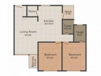 1255 sqft, 2 bhk Apartment in shubham Shubham Elite Harni, Vadodara at Rs. 10000