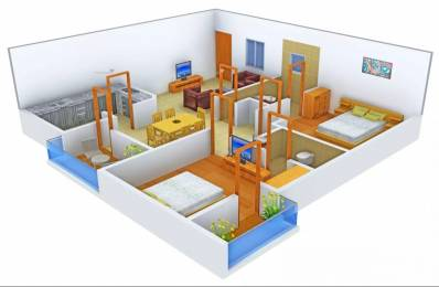 1325 sqft, 2 bhk Apartment in Omega Orchid Heights Uattardhona, Lucknow at Rs. 12000