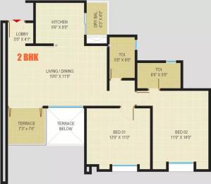 1050 sqft, 2 bhk Apartment in Rainbow Pebbles Bavdhan, Pune at Rs. 75.0000 Lacs