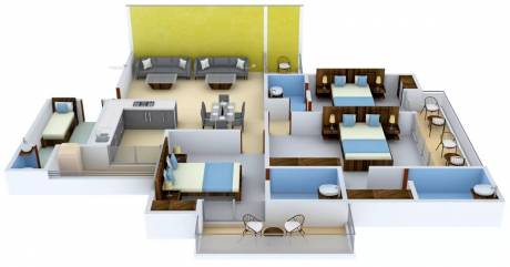 2099 sqft, 3 bhk Apartment in Apex Athena Sector 75, Noida at Rs. 1.1000 Cr