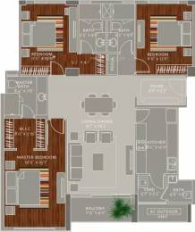 1975 sqft, 3 bhk Apartment in Ceebros The Atlantic Egmore, Chennai at Rs. 77000