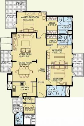 2309 sqft, 3 bhk Apartment in Satya The Legend Sector 57, Gurgaon at Rs. 1.6500 Cr