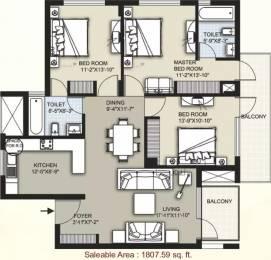 1808 sqft, 3 bhk Apartment in Raheja Atharva Sector 109, Gurgaon at Rs. 85.0000 Lacs