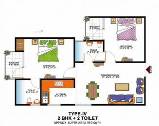 950 sqft, 2 bhk Apartment in Grah Green View Heights Raj Nagar Extension, Ghaziabad at Rs. 27.8960 Lacs