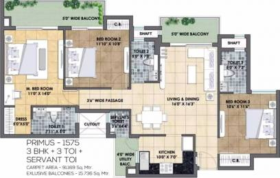 1575 sqft, 3 bhk Apartment in TATA Eureka Park Phase 1 Sector 150, Noida at Rs. 78.8000 Lacs