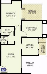 795 sqft, 2 bhk Apartment in Ram Livogue Hadapsar, Pune at Rs. 50.0000 Lacs