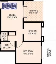 630 sqft, 1 bhk Apartment in Ram Livogue Hadapsar, Pune at Rs. 13000