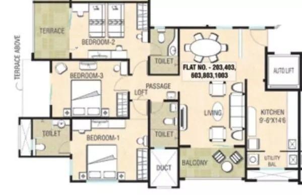1511 sqft, 3 bhk Apartment in Naiknavare Sylvan Premium Aundh, Pune at Rs. 35000