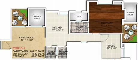 990 sqft, 1 bhk Apartment in Apex Athena Tathawade, Pune at Rs. 68.0000 Lacs