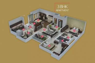 1694 sqft, 3 bhk Apartment in Pristine Royale Aundh, Pune at Rs. 35000