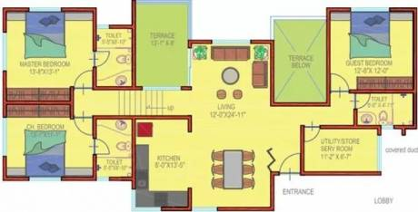 1637 sqft, 3 bhk Apartment in Geras Regent Park Baner, Pune at Rs. 32000
