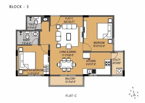 920 sqft, 2 bhk Apartment in Shabari SS South Crest Bommasandra, Bangalore at Rs. 36.5000 Lacs