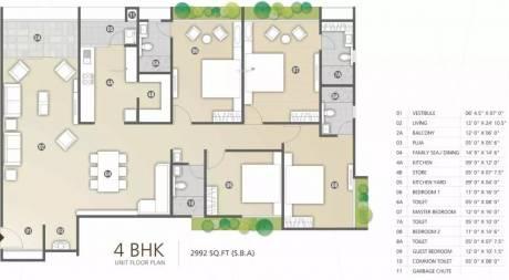 2992 sqft, 4 bhk Apartment in Shree Radha Jaldeep Vertex Ambli, Ahmedabad at Rs. 1.8500 Cr