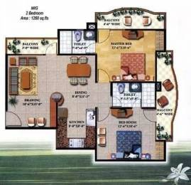 1260 sqft, 2 bhk Apartment in JM Royal Legacy Maharaja Agarsain Chowk, Ghaziabad at Rs. 62.0000 Lacs