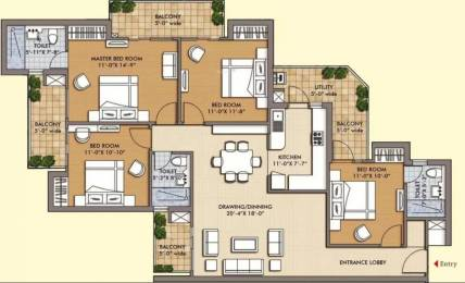 1906 sqft, 4 bhk Apartment in Sam Palm Olympia Sector 16C Noida Extension, Greater Noida at Rs. 71.0000 Lacs