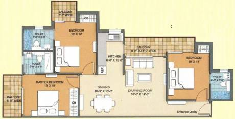 1317 sqft, 3 bhk Apartment in Sam Palm Olympia Sector 16C Noida Extension, Greater Noida at Rs. 49.0000 Lacs