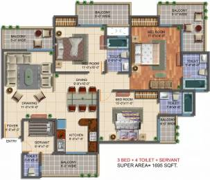 1695 sqft, 3 bhk Apartment in Saviour Green Arch Techzone 4, Greater Noida at Rs. 61.0000 Lacs