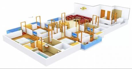 2560 sqft, 4 bhk Apartment in 3C Lotus Boulevard Espacia Sector 100, Noida at Rs. 55000