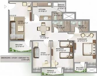 1330 sqft, 2 bhk Apartment in 3C Lotus Panache Sector 110, Noida at Rs. 68.0000 Lacs