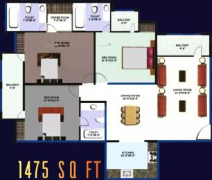 1475 sqft, 3 bhk Apartment in Revanta Heights Chhawla, Delhi at Rs. 45.0000 Lacs