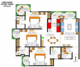 1570 sqft, 3 bhk Apartment in Rishabh Cloud9 Towers Shakti Khand, Ghaziabad at Rs. 75.0000 Lacs