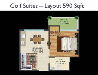 590 sqft, 1 bhk Apartment in Supertech Golf Suites Sector 22D Yamuna Expressway, Noida at Rs. 23.3050 Lacs