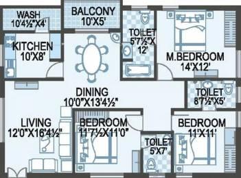 1700 sqft, 3 bhk Apartment in ACE Atlantis Manikonda, Hyderabad at Rs. 93.5000 Lacs