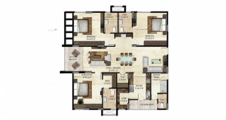 2440 sqft, 3 bhk Apartment in SMR Vinay Iconia Serilingampally, Hyderabad at Rs. 1.3420 Cr