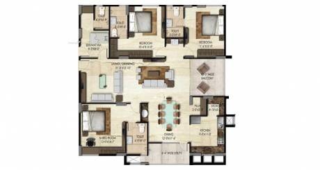 1580 sqft, 3 bhk Apartment in SMR Vinay Iconia Phase 2 Serilingampally, Hyderabad at Rs. 86.9000 Lacs