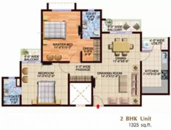 1325 sqft, 2 bhk Apartment in Spring Greens Phase 2 Uattardhona, Lucknow at Rs. 38.0000 Lacs