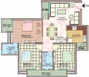1490 sqft, 3 bhk Apartment in Manisha Marvel Home Sector 61, Noida at Rs. 21000