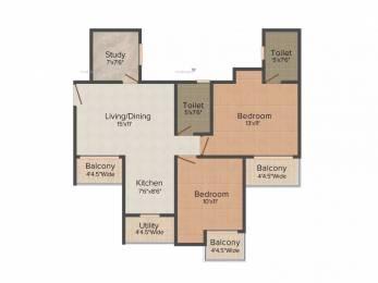 1105 sqft, 2 bhk Apartment in Sethi Max Royal Sector 76, Noida at Rs. 13000
