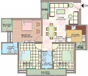 1490 sqft, 3 bhk Apartment in Manisha Marvel Home Sector 61, Noida at Rs. 22000