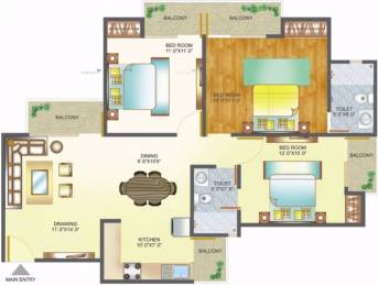 1385 sqft, 3 bhk Apartment in Amrapali Pan Oasis Sector 70, Noida at Rs. 16000