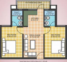 924 sqft, 2 bhk Apartment in Omaxe Europia Sector 36 Bhiwadi, Bhiwadi at Rs. 18.2500 Lacs