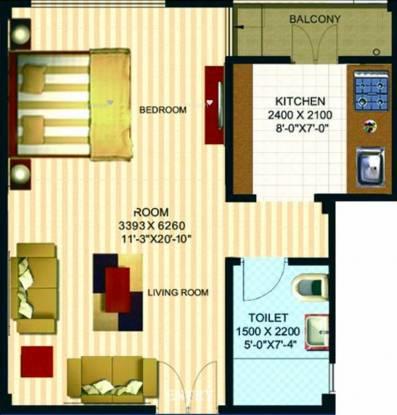 400 sqft, 1 bhk Apartment in Anant Aashray Shahjahanpur, Neemrana at Rs. 9.0000 Lacs