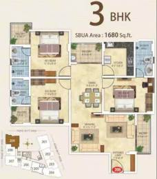 1680 sqft, 3 bhk Apartment in Kotecha Royal Essence Vaishali Nagar, Jaipur at Rs. 61.0000 Lacs