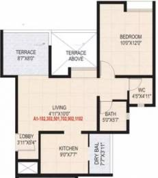 645 sqft, 1 bhk Apartment in Sanskruti Casa Imperia Wakad, Pune at Rs. 45.0000 Lacs