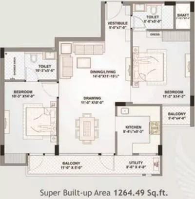 1264 sqft, 2 bhk Apartment in Felicity Emerald Ram Nagar, Jaipur at Rs. 80.0000 Lacs