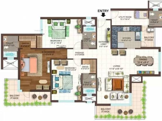 2095 sqft, 3 bhk Apartment in Ace Golfshire Sector 150, Noida at Rs. 1.1830 Cr