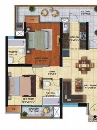 1090 sqft, 2 bhk Apartment in Ace City Sector 1 Noida Extension, Greater Noida at Rs. 42.5000 Lacs
