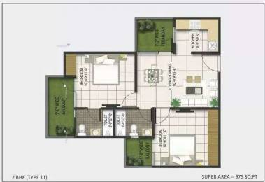975 sqft, 2 bhk Apartment in AKVS Surya Heights Crossing Republik, Ghaziabad at Rs. 29.0000 Lacs