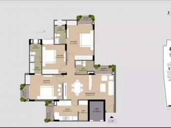 2175 sqft, 3 bhk Apartment in Trimurty Ariana Jagatpura, Jaipur at Rs. 82.6500 Lacs
