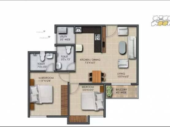 950 sqft, 2 bhk Apartment in Subha 9 Sky Vue Anekal City, Bangalore at Rs. 26.6000 Lacs
